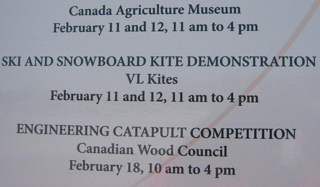 Sign at Winterlude 2006 Kite Camp